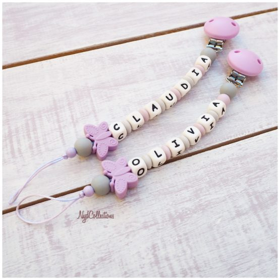 Sujeta-chupete personalizado NydCollections Butterfly